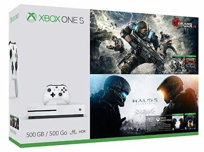 🍁New Xbox One S Console - Gears & Halo Special Bundle (4 Games) + 1 month pass
