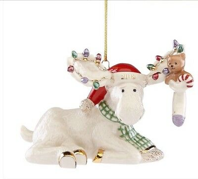 2018 Marcel's Christmas Stocking Moose Ornament NIB