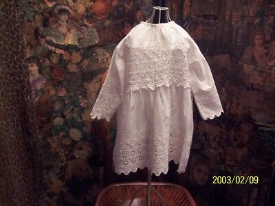 A childs, antique, edwardian, dress. gorgeous white work.