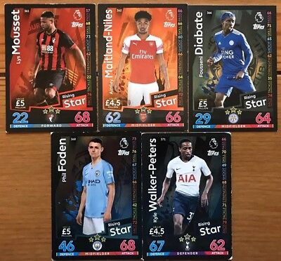 MATCH ATTAX 2018/19 Base Cards, Rising Stars & Fan Favourites. 10p/20p per Card.