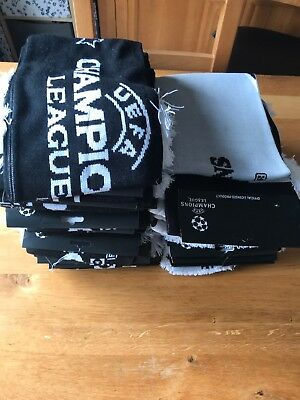 Joblot Of 25 UEFA Champions League Scarfs