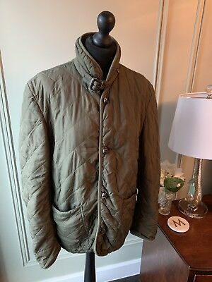 Mens Farrell Green Quilted Jacket Barbour Coat Style