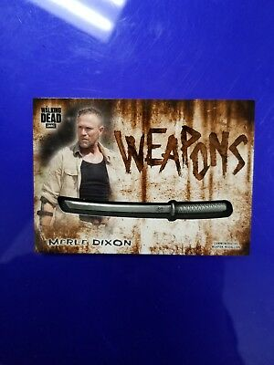 2018 Topps Walking Dead Hunters And Hunted Merle Dixon Weapon Medallion! #13/99!
