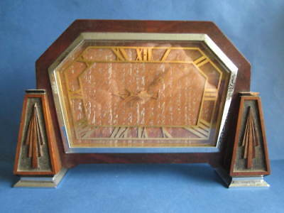 Old Art Deco Mantel Clock Swinden Birmingham