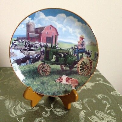 John Deere Collector Plate Danbury Mint Farmland Memories Days of Splendor A4275
