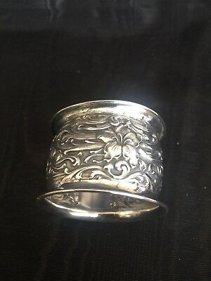 """Repousse"" Sterling Silver Napkin Ring 1900-1940"