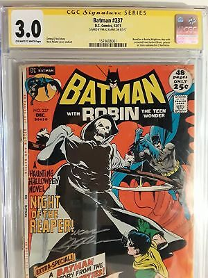 Batman #237 (Cgc 3.0) 1971 Signed By Neal Adams; Cover & Art; Robin Appearance