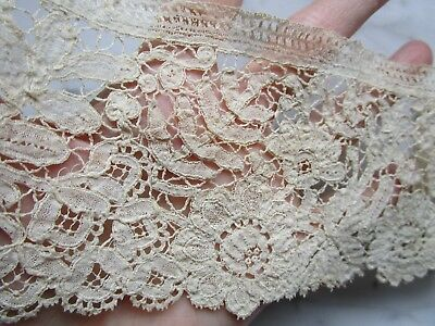 Antique Lace Dainty Raised Flowers & Leaves~Dolls Hats Costumes