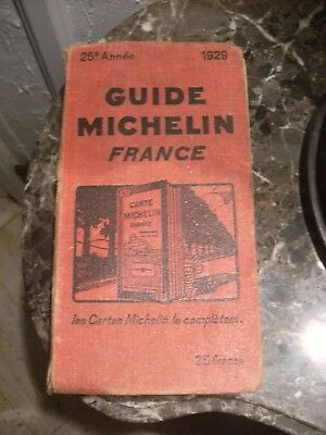 guide michelin rouge 1929