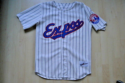 Montreal Expos Authentic Baseball Jersey Trikot Ravens Knit Mens L vintage MLB