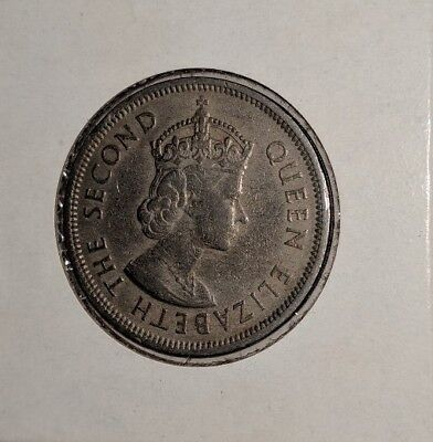 1960 Queen Elizabeth II Hong Kong One Dollar Coin