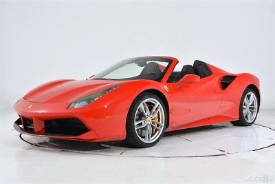 2017 Ferrari 488 Spider Certified CPO Carbon Fiber LED Apple CarPlay Full Electric Daytona Shields Cameras HiFi Forged