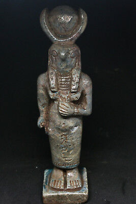 Antique Egyptian Figure Statue Faience glazed Stone