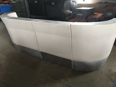 Bar or Reception Counter - Fibreglass, LED, 1m straight and curved sections