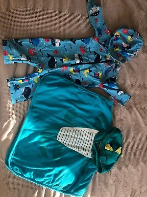 Boys 12-18 months swimsuit (with hat) and towel set
