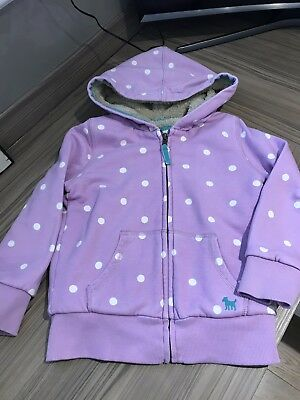 Girls Mini Boden Fur Lined Zip Up Hoody. VGC Age 5-6