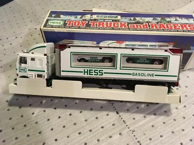 NIB 1997 Hess Toy Truck and Racers Lights Friction Motors BRAND NEW Collectible