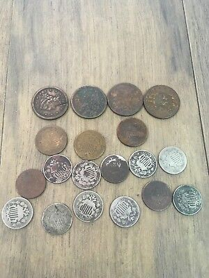 Lot Of 19 United States Coins