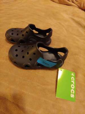 fefa88debd77 New With Tags Children s Navy Crocs Swiftwater Wave Shoe K Size C12