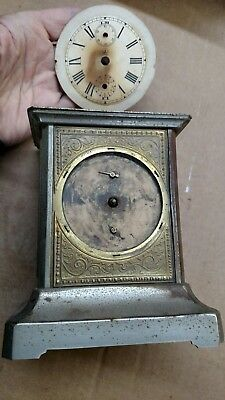 Kuehl Carriage Brass Antique Alarm Clock Made in Germany with Musical Alarm