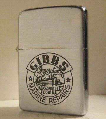1956 Advertising Zippo Gibbs Corporation Marine Repairs Jacksonville Florida