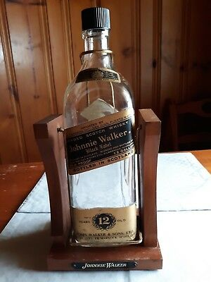 Johnnie Walker Black Label Display Bottle Swing Cradle 4.5 Liters