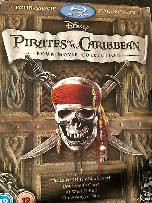Pirates of the Caribbean: Four-Movie Collection (Blu-ray 4-Disc Set)LOW OPEN BID