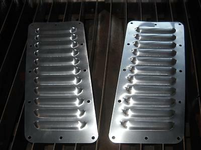 "Tilted Pair of 11 5"" Louvered Panels Hood louvers Bolt-on style Vent Kit"