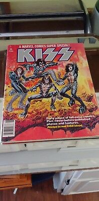 A Marvel Comics Super Special Volume #1 Issue #1 Kiss Comic Book Real Blood