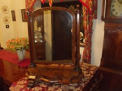 Large Antique Victorian Mahogany Swing Dressing Table Toilet Mirror