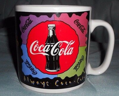 Vintage Collectible Coca Cola Mug Thirst + Taste = Coca-Cola 1995 16 oz #169803