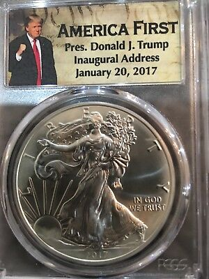 American First Pres. Donald J. Trump Inaugural Address January 20,2017 PCGS MS70