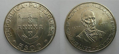 It - Portugal 5 Escudos (5$00) 1977 Alexandre Herculano