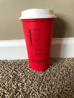 Starbucks 2018 Coffee Reusable Red Cup 16 oz Christmas Holiday Limited Edition!
