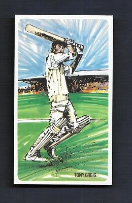 Cricket Tony Greig Sussex England The Ashes MCC Nabisco Sport Card Kevin Keegan