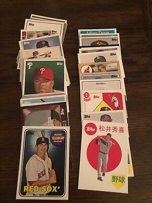 2008 Topps Trading Card History Insert Lot of 51 Cards