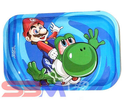 Smoke Arsenal MARIO YOSHI Tobacco Metal MEDIUM Rolling Tray 11x7