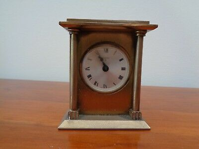 Vintage Brass Swiza 8 Alarm Clock, Working But Does Need Attention