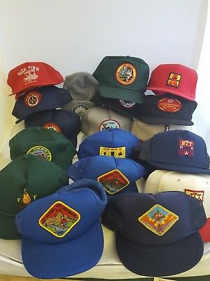 Lot 24 Vintage Royal Rangers & NTC National Training Center Beret Hats Patches