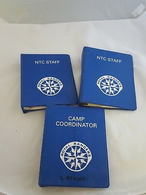 Lot of 3 Royal Rangers & NTC Camp Manuals Program 1995 & 1997