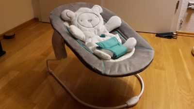 HAUCK Babywippe Alpha Bouncer 2in1 Hearts Grey in OVP