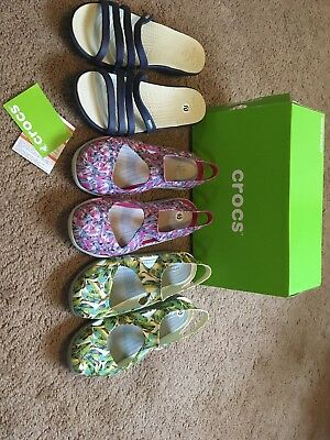New Crocs Women Size 10/ Lot Of 3/Store Display
