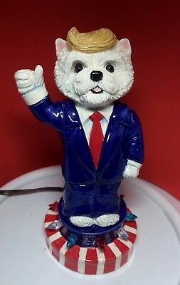 Mr. Westiedent  westie terrier Trumpie dog Patriotic OOAK sculpture hand made