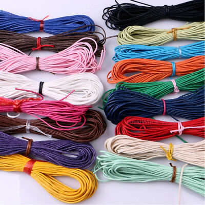 Home Decor Jewelry Making Cord DIY Rope Waxed Cotton Cords Twine String