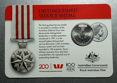 2017 Australian 20 cent coin, Legends of the ANZACs, Distinguished service medal