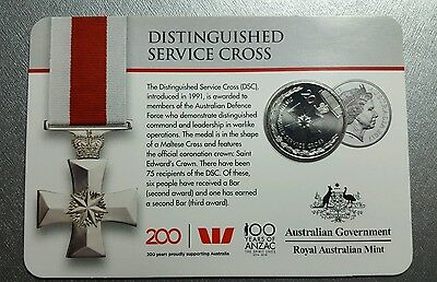 2017 Australian 20 cent coin, Legends of the ANZACs, Distinguished sevices cross