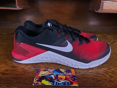 Nike Metcon 4 Mens Training Shoe Red Black White AH7453 002 NEW Size 8 f61a7e3bf