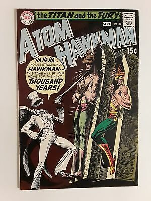 Atom & Hawkman #44 (Vg+ 4.5) 1969 Gentleman Ghost Cover & Appearance