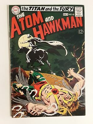 Atom & Hawkman #43 (Vg 4.0) 1969 Gentleman Ghost Cover & Appearance