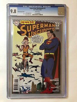 Superman Unchained (2013 DC) #3 Bolland Silver Age Variant CGC 9.8 1:50
